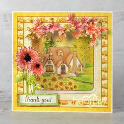 Heartfelt Creations Cottage Autumn 'scapes -leimasin