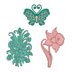 Heartfelt Creations Delightful Daffodil & Butterfly -stanssi