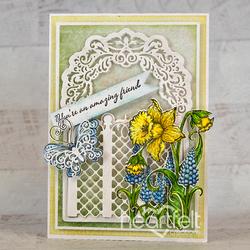 Heartfelt Creations Delightful Daffodil & Hyacinth -leimasin
