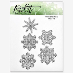 Picket Fence stanssi Winter Snowflakes