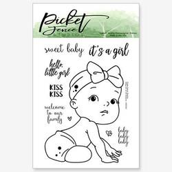 Picket Fence leimasin Baby Girl of all Seasons