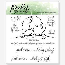 Picket Fence leimasin Sleeping Baby