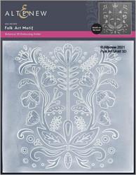 Altenew 3D kohokuviointikansio Folk Art Motif