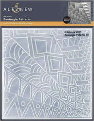 Altenew 3D kohokuviointikansio Zentangle Patterns