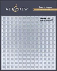 Altenew 3D kohokuviointikansio Rows of Squares