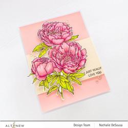 Altenew Paint-A-Flower: Coral Sunset -leimasinsetti