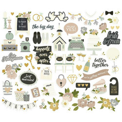 Simple Stories Happily Ever After Bits & Pieces Die-Cuts, leikekuvat