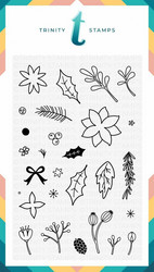 Trinity Stamps leimasin Winter Botanical