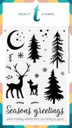 Trinity Stamps leimasin Seasons Greetings Silhouettes