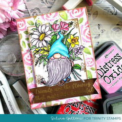 Trinity Stamps leimasin Friends are Flowers