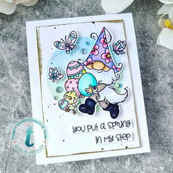Trinity Stamps leimasin Spring in my Step