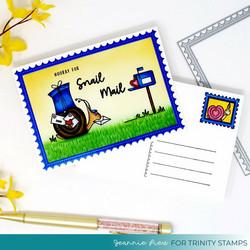 Trinity Stamps leimasin- ja stanssisetti Crafty Post