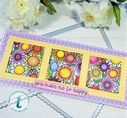 Trinity Stamps leimasin Doodle Garden Slimline
