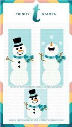 Trinity Stamps stanssi Slimline Series Happy Snowman