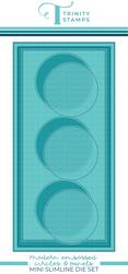 Trinity Stamps stanssisetti Mini Modern Embossed Slimline