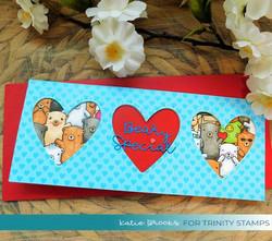 Trinity Stamps stanssi Slimline Wide Heart Trio
