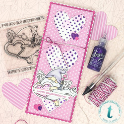 Trinity Stamps stanssi Slimline Tall Heart Trio