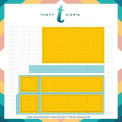 Trinity Stamps stanssi Slimline Series: Wide Box Card