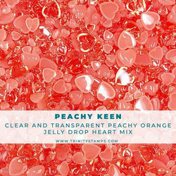 Trinity Stamps koristeet Peachy Keen, Jelly Drop Hearts