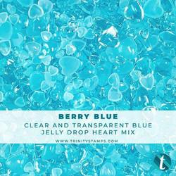 Trinity Stamps koristeet Berry Blue, Jelly Drop Hearts