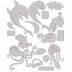 Sizzix Tim Holtz Thinlits stanssisetti Under The Sea #1, Colorize