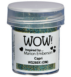 Wow! Embossing Glitters -kohojauhe, sävy Capri by Marion Emberson, Mixture (OM)