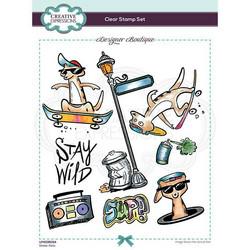 Creative Expressions Skate-Kats -leimasin