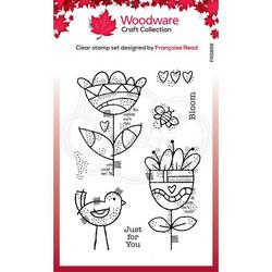 Woodware leimasin Blooming