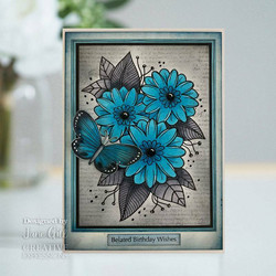 Woodware leimasin Passion Flower
