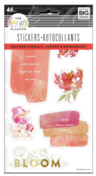 Mambi Happy Planner tarrat Teacher Florals