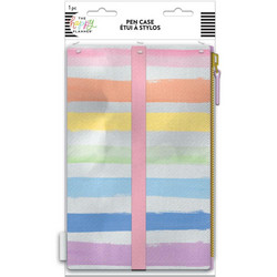 Mambi Banded Pouch -penaali, Pastel Rainbow
