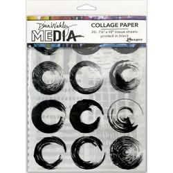 Dina Wakley Media Collage Tissue -paperipakkaus Elements