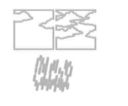 Hero Arts stanssisetti Looking Glass Rain & Clouds