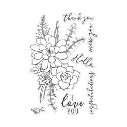 Hero Arts Succulent Bouquet -leimasinsetti