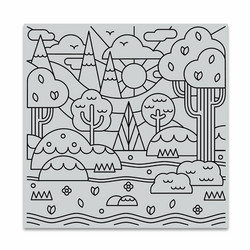 Hero Arts leimasin Forest Shapes Bold Prints