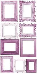Craft O'clock paperipakkaus Basic Flowers Set 4, Purple-Fuchsia