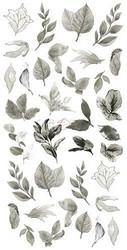 Craft O'clock paperipakkaus Basic Leaves Set 2, Grey