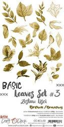 Craft O'clock paperipakkaus Basic Leaves Set 3, Brown