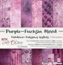 Craft O'clock paperipakkaus Purple-Fuchsia Mood, 12