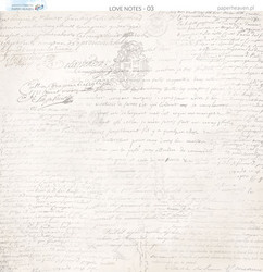 Paper Heaven skräppipaperi Love Notes 03