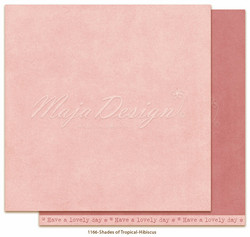 Maja Design Monochromes - Shades of Tropical skräppipaperi Hibiscus