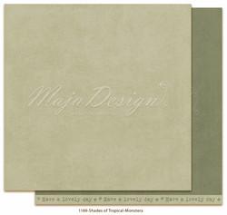 Maja Design Monochromes - Shades of Tropical skräppipaperi Monstera