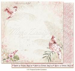 Maja Design Tropical Garden skräppipaperi Cockatoo