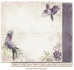 Maja Design Tropical Garden skräppipaperi Purple parrot