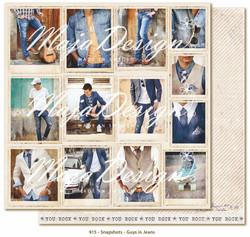 Maja Design Denim & Girls skräppipaperi Snapshots - Guys in Jeans