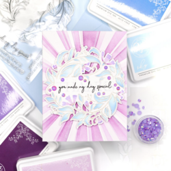 Pinkfresh Studio sapluunasetti Reason To Smile Wreath, A2