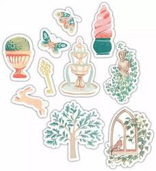 Craft Consortium Secret Garden Wooden Shapes -koristeet