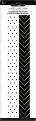 Mambi Black & White Elastic Band Pen Holder -kuminauhat