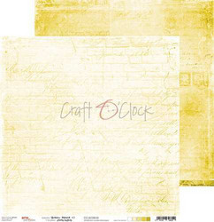 Craft O'clock skräppipaperi Yellow Mood 03