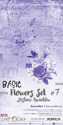 Craft O'clock paperipakkaus Basic Flowers Set 7, Lavender